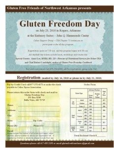 Gluten Freedom Day Event Flyer