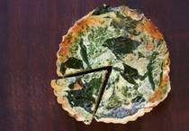 Gluten free spinach quiche