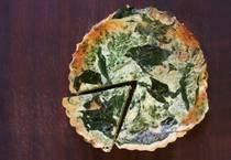 Gluten free spinach quiche