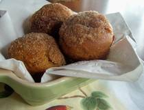 gluten free pumpkin doughnut mini muffins