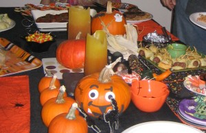 gluten free halloween party table