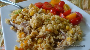 gluten free warm millet salad 