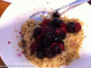 gluten free quinoa porridge with berries