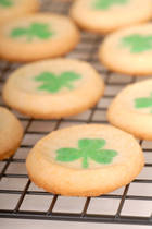 Freshly baked St. Patrick's Day sugar cookies
