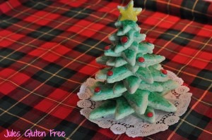 You don't have to build your cookies in a tree shape - but, boy it looks cute and festive!