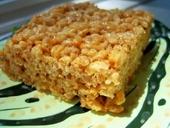 gluten free rice crispie square