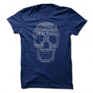 Gluten Kills Mens Navy Tee