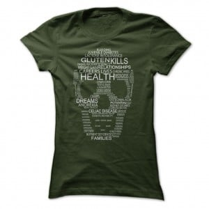 Gluten Kills Ladies Forest Tee