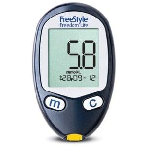 Glucose Meter Reading Showing Hypoglycemia. Courtesy Abbott.