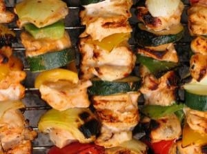 Chicken Kabobs on the Grill...umm Riboflavin.