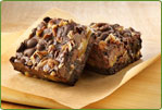 Turtle Brownie made with Betty Crocker Gluten Free Mix