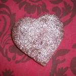 gluten free brownie hearts