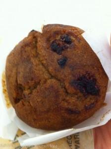 Gluten free raspberry muffin