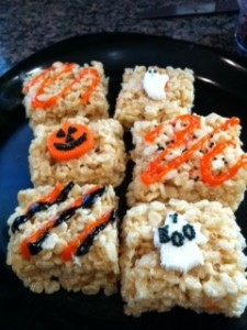 gluten free halloween rice krispies