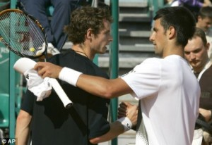 Andrew Murray and Novak Djokovic