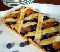 gluten free peach blueberry tart recipe