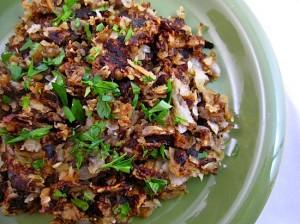 Turnip and Potato Hash Browns