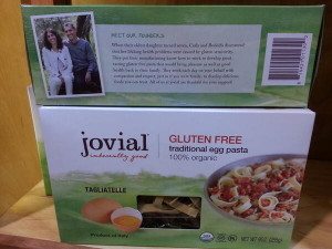 Jovial GF Pasta. Courtesy:  Jennifer Harris