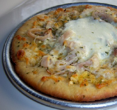 Gluten-Free Smoked Turkey and Garlic Pizza 2010 © Teri Lee Gruss