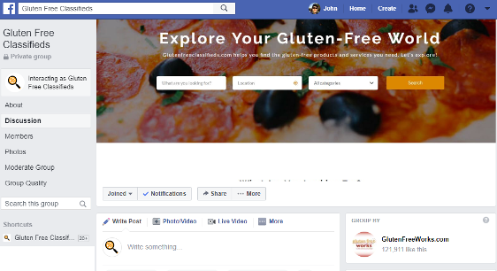 Meet Gluten Free Companies at the New Gluten Free Classifieds Facebook Group