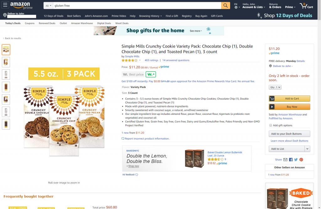 Save On Gluten Free Foods At Amazon Warehouse