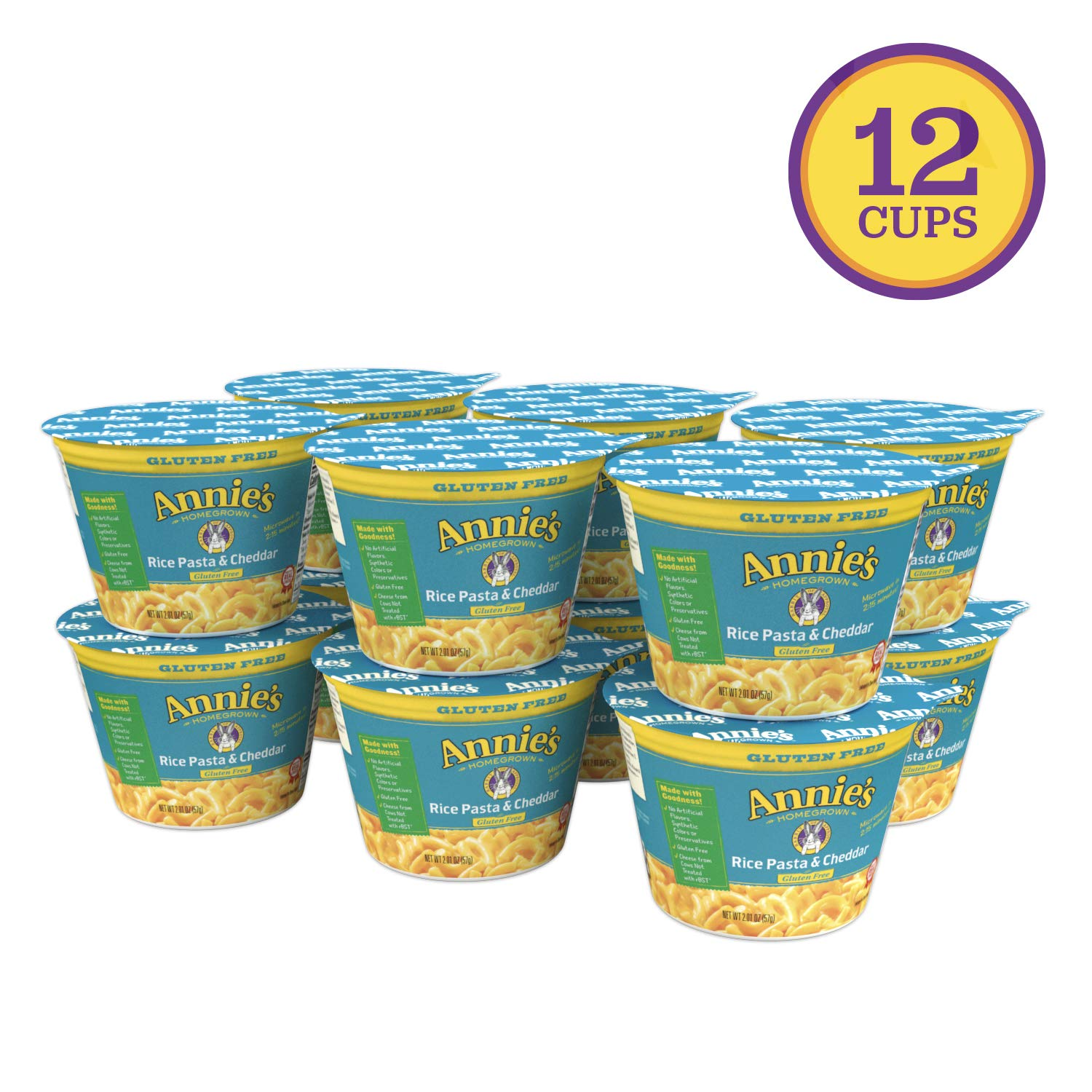 Annie's Gluten Free Rice Pasta & Cheddar Microwavable Macaroni & Cheese
